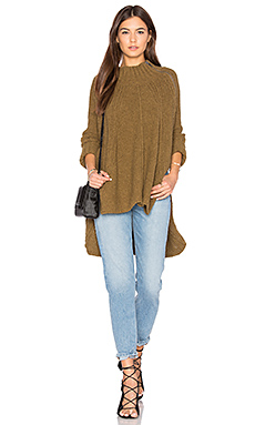 Spin Around Poncho Top en Mousse