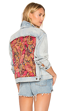 Paisley Quilted Denim Jacket – 浅牛仔色