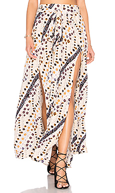 Remember Me Maxi Skirt in Ivory Combo
