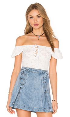 Popsicle Off the Shoulder Top en Ivory