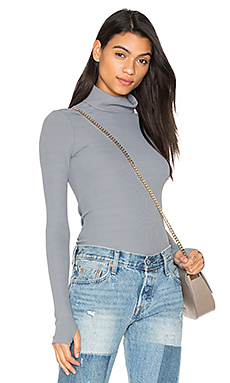 Second Skin Turtleneck Top in Dark Grey