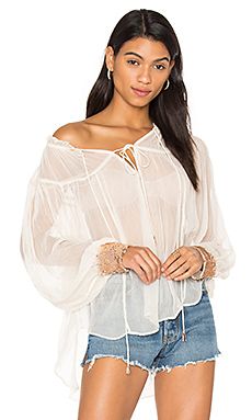 Dream Cuff Blouse en Ivory