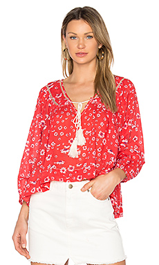 Never a Dull Moment Blouse en Rouge