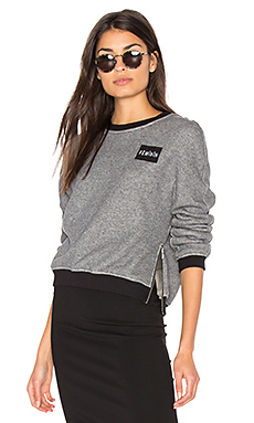 Patch Pullover Sweatshirt in Grey