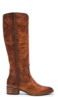 Ray Seam Tall Boot in Cognac