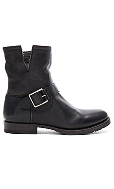 Natalie Short Engineer Boot in Black