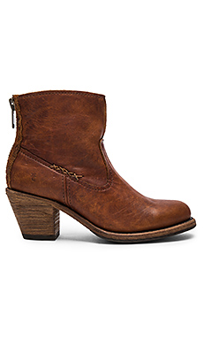 Leslie Artisan Short Boot in Cognac