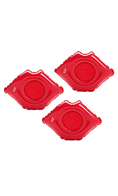 Lip Inflatable Drink Holder Set Of 3 en Rouge