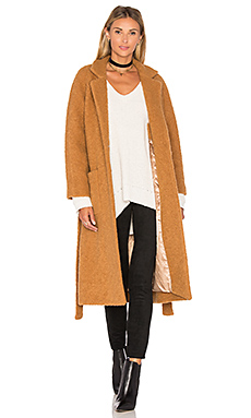 Fenn Wrap Coat – Tobacco Brown