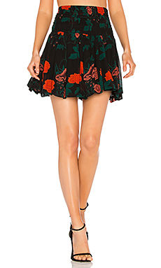 Newman Georgette Skirt in Black