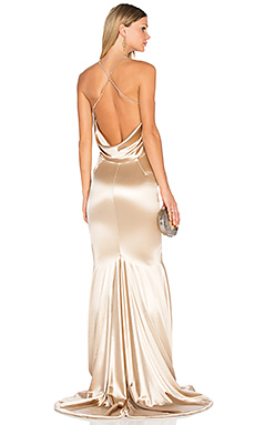 Barthelemy Gown in Light Champagne Gold