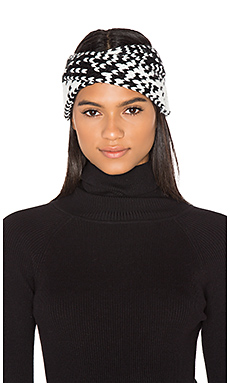 Avery Headband in White & Black