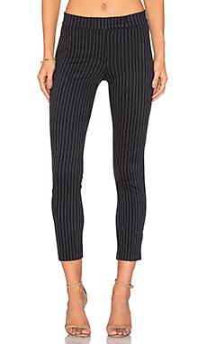 Pin Tuck Pant in Navy Pinstripe