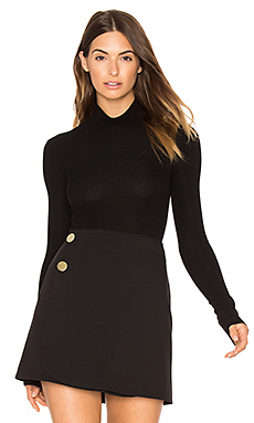 Turtleneck Bodysuit in Black