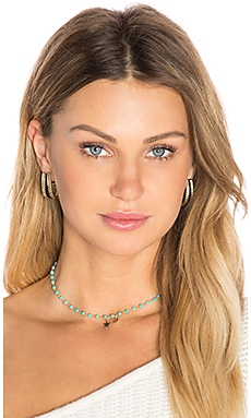 Choker in Gold & Turquoise