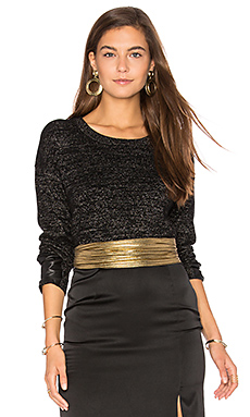 Lexi Lurex Top en Black With Lurex