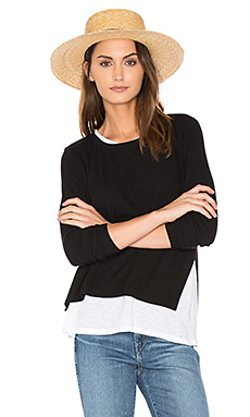 Ellie Double Layer Top en Black & White