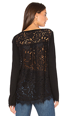 Marjorie Lace Top en Noir