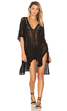 Up All Night Poncho en Noir