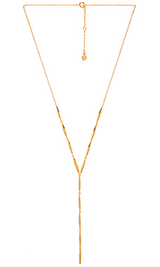 Emma Lariat Necklace in Gold