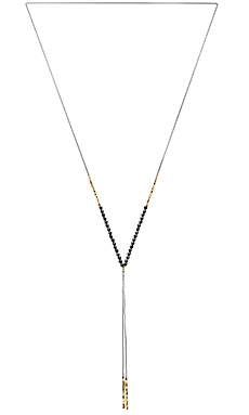 Power Gemstone Necklace in Black Onyx & Gold