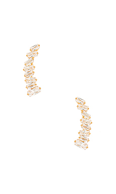 Amara Ear Climbers en White CZ & Gold
