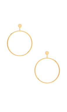 Autumn Circle Drop Hoop Earring