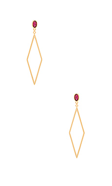 Dez Drop Hoop Earrings – Pink Corundum