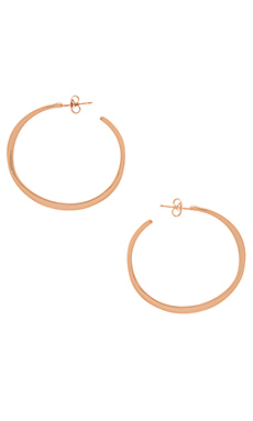Arc Hoop Large Earrings en Or Rose
