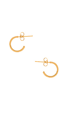Taner Mini Hoop Earrings em Ouro