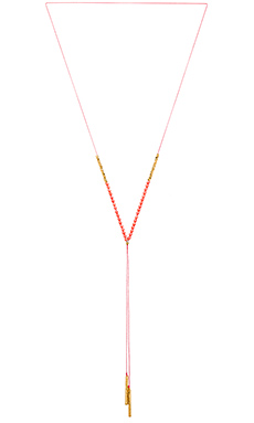 Power Gemstone Necklace em Pink Coral & Gold