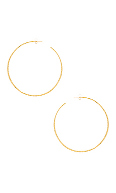 Taner XL Hoop Earrings em Ouro