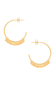Chloe Mini Hoop Earrings em Ouro