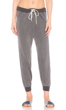 The Cropped Sweat Pant en Anthracite Gris Chiné
