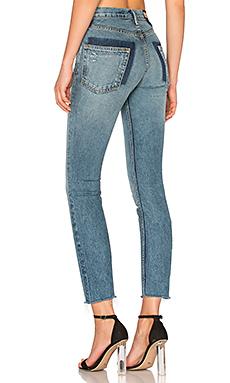 KAROLINA 高裆紧身牛仔裤