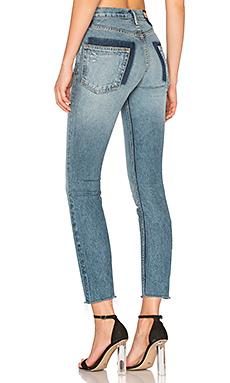 KAROLINA 小码高裆紧身牛仔裤
