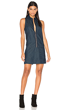 Blake Zip Front Dress in Rinsed