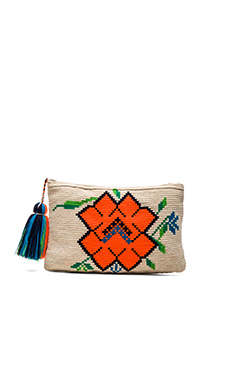 Amapola Clutch in Orange