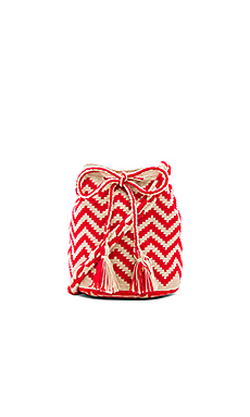 Medium Bucket Bag en Rouge