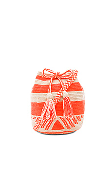 Medium Bucket Bag in Orange