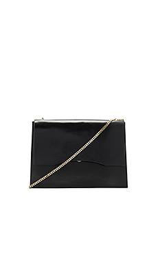 Aden Shoulder Bag in Black & Gold