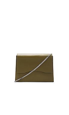 Jaden Shoulder Bag in Olive & Silver