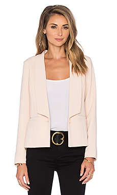 Krissa Pleated Back Blazer in Blush