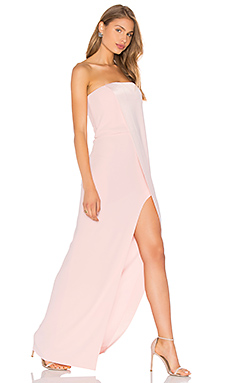 Strapless Gown in Barely Pink