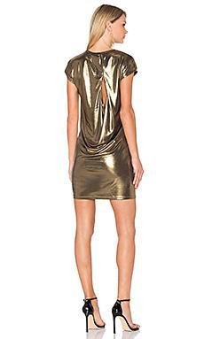 Foil Jersey Dress en Bronze