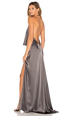Halter Low Back Dress – 铅黑色