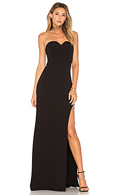High Slit Gown in Black