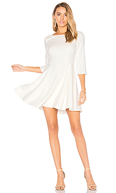 Scoop Neck Dress in White