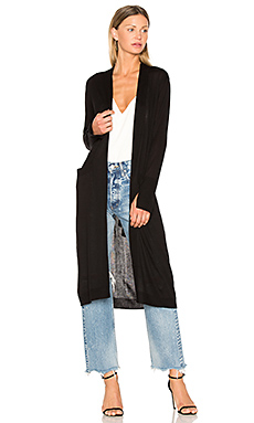 Open Front Duster Cardigan – 黑色