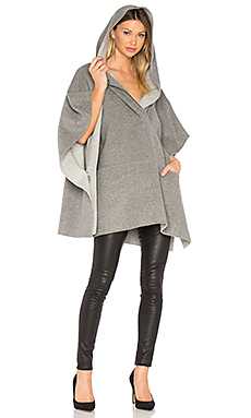 Poncho in Medium Heather Grey & Light Heather Grey